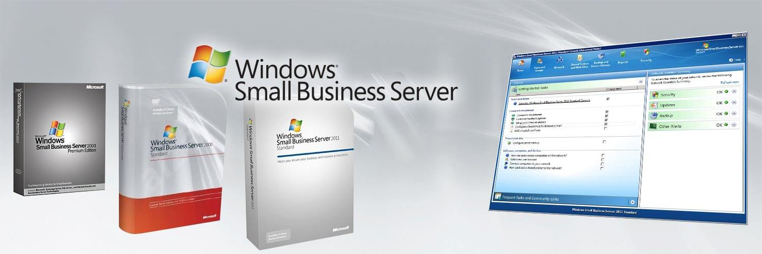 Small Business Server 2003, 2008 und 2011 mit der SBS-Konsole