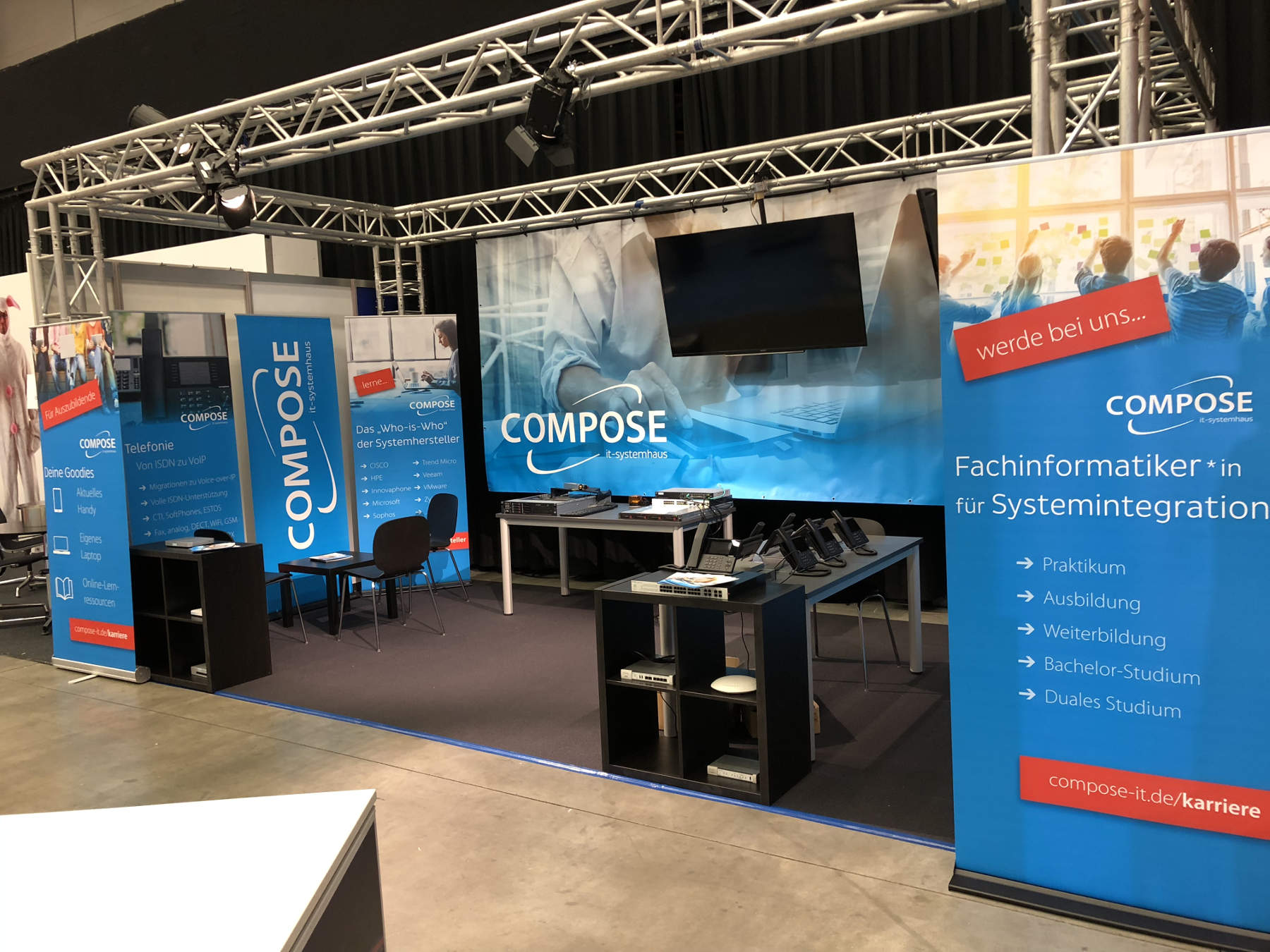 Messestand COMPOSE it-systemhaus